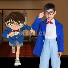 New! Anime Detective Conan Child Cosplay Costume